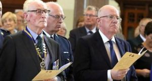 Minister for Justice Charlie Flanagan at a service for policemen killed by the IRA during the War of Independence. Photograph: Ronan McGreevy
