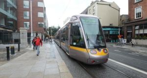 There were no Luas services running between Blackhorse and Heuston earlier on Monday. File photograph: Cyril Byrne/The Irish Times