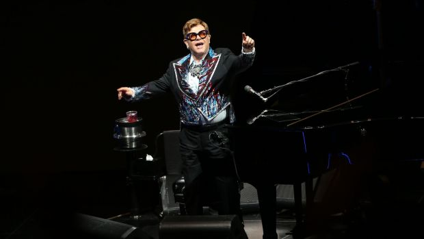 .Elton John performs at the 3arena in Dublin as part of his Farewell Yellow Brick Road tour. Photograph : Laura Hutton/The Irish Times