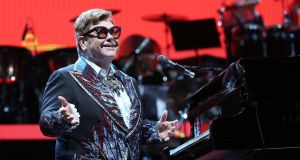 Elton John performs at the 3arena in Dublin as part of his Farewell Yellow Brick Road tour. Photograph: Laura Hutton/The Irish Times