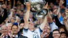 Stephen Cluxton lifts Sam Maguire after Dublin's win over Kerry. Photograph: Tommy Dickson /Inpho