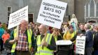 A campaign to stop the potential opening of a direct provision centre in Oughterard, Co Galway . File photograph: Joe O'Shaughnessy.