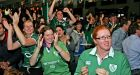 Jubilant rugby fans engrossed in the moment in that famous Donnybrook watering hole, Kielys. Photograph: Eric Luke/The Irish Times