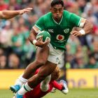 Ireland's Bundee Aki in  action against Wales at the Aviva Stadium on September 7th. Photograph: Billy Stickland/Inpho