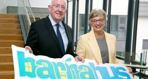 Charlie Flanagan  and Dr Katherine Zappone at  the Barnahus, Onehouse Galway pilot project. Photograph: Fennell Photography