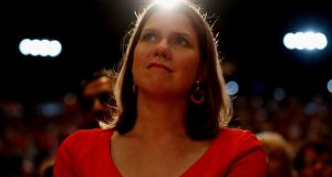 Jo Swinson during the Liberal Democrats autumn conference in Bournemouth. Photograph: Jonathan Brady/PA Wire
