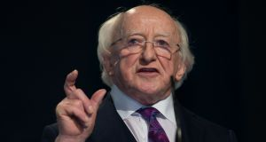 The proposal would only see emigrants and citizens abroad and in the North given the right to vote in presidential elections, rather than in all elections. Above, President Michael D Higgins. Photograph: Tom Honan