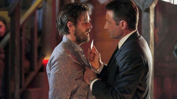 Gethin Anthony and David Duchovny in Aquarius