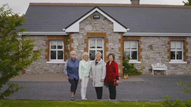 Helena McCartan, Margaret Tierney Smith, Anne Lynch and Breege O'Connell on the first episode of Goodbye House