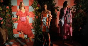 Katie Ann McGuigan: the designer from Newry is a rising star at LFW. Photograph: Isabel Infantes/PA