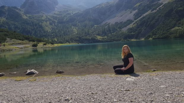 Rachel Flaherty on holidays at a lake in Austria