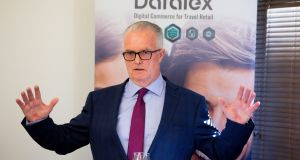 Datalex acting chief executive Sean Corkery at the company's agm on Tuesday, where shareholders agreed to adjourn discussion of Datalex's 2018 financial statements to October 3rd. Photograph: Tom Honan