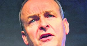 "Fianna Fáil leader Micheál Martin: ""I think there was a degree of triumphalism that did get the back up in unionist quarters and elsewhere which I think has given rise to all of the difficulties."" File photograph: Gareth Chaney/Collins"