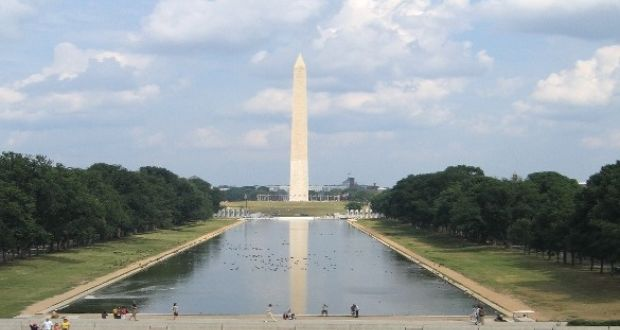 The bronze plaque, which displays the words of the 1916 proclamation, will be added to the Washington Monument. Photograph: iStock