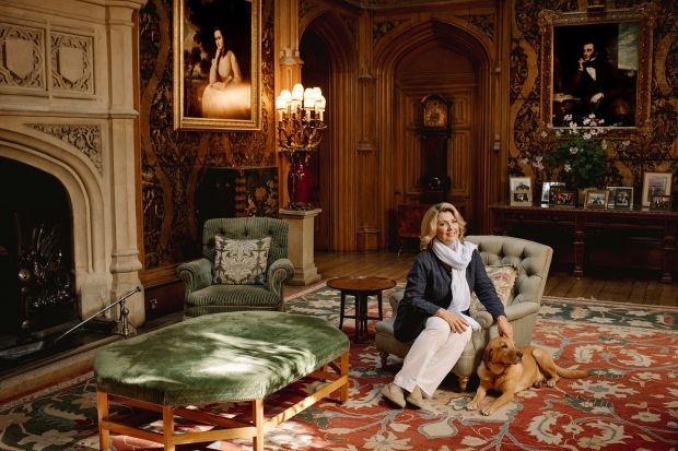 Downtown Abbey on Airbnb: the countess of Carnarvon at Highclere Castle, in Hampshire, in southern England