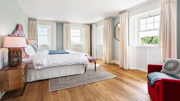 Pine Lodge: the master bedroom at Saoirse Ronan's Co Wicklow home