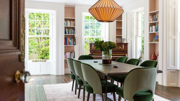 Pine Lodge: the dining room at Saoirse Ronan's Co Wicklow home