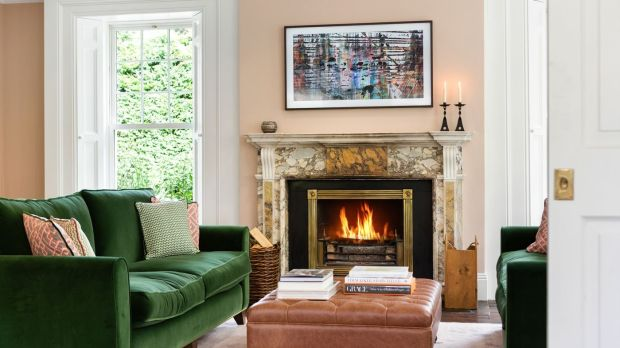 Pine Lodge: the drawing room at Saoirse Ronan's Co Wicklow home