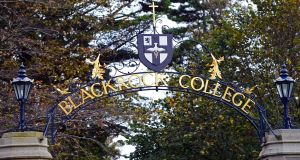 Blackrock College, Dublin says 'lights in the corridors, offices and classrooms will be turned off' on Friday but pupils were told not to attend the  climate rally.  Photograph: Eric Luke/The Irish Times