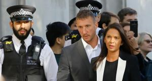 Anti-Brexit campaigner Gina Miller arrives at the supreme court in central London, on the second day of the hearing into the decision by the UK government to prorogue parliament. Photograph: Tolga Akmen/AFP