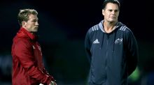 Jerry Flannery pictured with Rassie Erasmus during his time as Munster director of rugby. Photograph:   Dan Sheridan/Inpho
