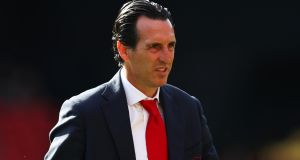 Arsenal manager  Unai Emery: 'We are playing a lot of matches and I want to use different players.' Photograph: Julian Finney/Getty Images