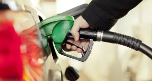 Time to fill up? A €10 increase in carbon taxes in Budget 2020 would add around €1.70 to a 60-litre petrol fill. Photograph: iStock