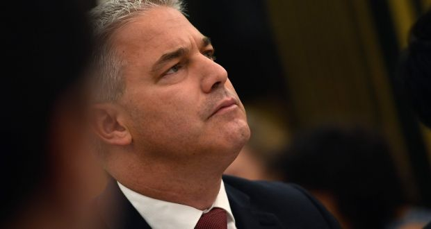 "The UK's Brexit secretary Stephen Barclay at a breakfast briefing in Madrid on Thursday. He insisted that that ""the alternative to the backstop is not necessary until the end of the implementation period in December 2020"". Photograph: Pierre-Philippe Marcou/AFP/Getty Images"