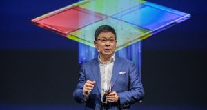 Richard Yu, CEO of Huawei Consumer Group. Photograph: Omer Messinger/EPA