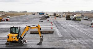Construction of the new runway at Dublin Airport