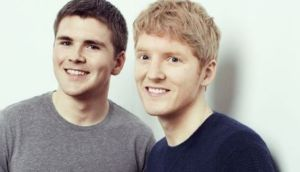 Stripe co-founders John and Patrick Collison are estimated to be worth about $2.1 billion  each, according to Forbes
