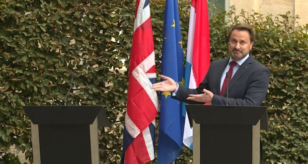 There will be plenty of voices around Boris Johnson urging him to admonish the EU and Ireland as the reaction to Luxembourg prime minster Xavier Bettel's press conference illustrates. File photograph: Getty