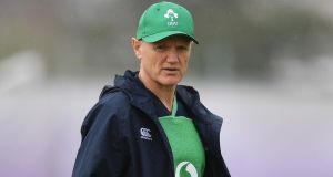 Joe Schmidt has named his starting XV for Ireland's RWC opener against Scotland. Photograph: Charly Triballeau/AFP/Getty