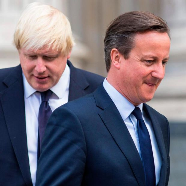 Mind your back: David Cameron with Boris Johnson, his eventual successor as British prime minister, in 2015. Photograph: Jack Taylor/AFP/Getty