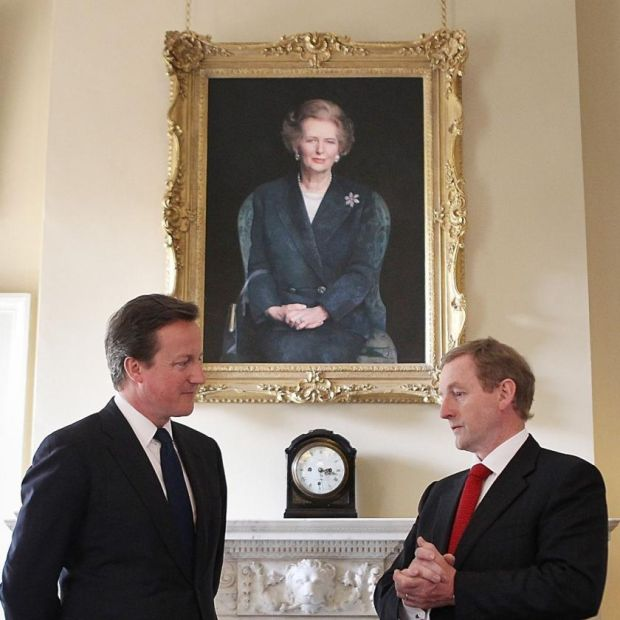 Political allies: David Cameron with Taoiseach Enda Kenny at 10 Downing Street in 2011. Photograph: Peter Macdiarmid/WPA Pool/Getty