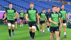 Ireland prepare for Scotland in Yokohama. Photograph: Kazuhiro Nogi/AFP/Getty