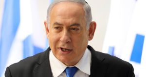 Israeli prime minister Benjamin Netanyahu. When he leaves office, he will bequeath an occupation of Palestinian territories that is as entrenched, as morally indefensible as it was when he came to power. Photograph: Abir Sultan/EPA