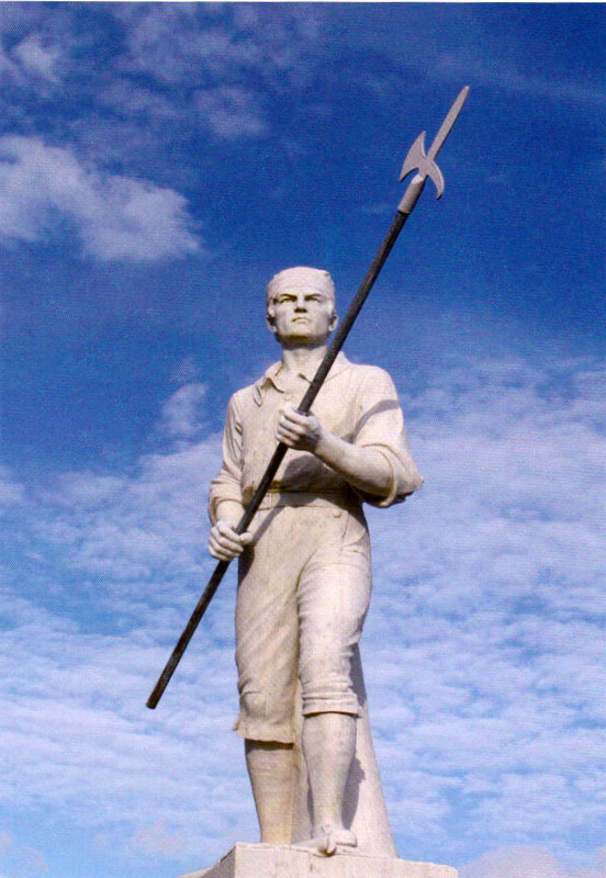 The pikeman monument in Ballinamuck