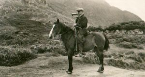 Paddy 'Toas' Doyle, the last bugler, amused visitors with recitations in Kerry