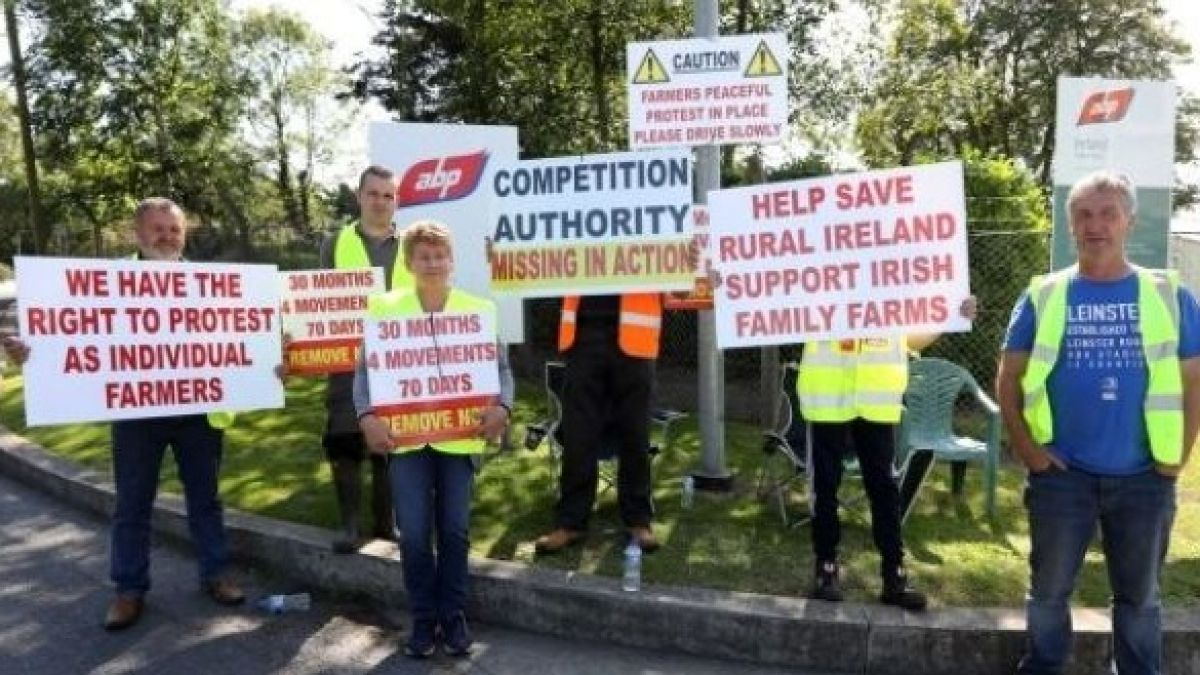 More beef protests end overnight at meat processing factories