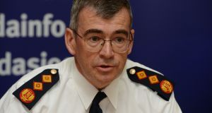 Garda Commissioner Drew Harris said the Garda was experiencing budgetary pressures. Photograph: Alan Betson