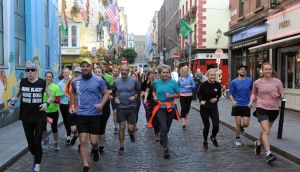 Participants in the Runlogic Ireland Culture Night Run ran between venues and events. Photograph: Aidan Crawley/The Irish Times