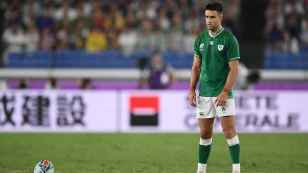 Conor Murray prepares to take a conversion. Photo: Charly Triballeau/AFP/Getty Images