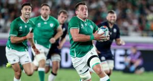 Ireland's CJ Stander makes a break during the Rugby World Cup win over Scotland. Photo: Dan Sheridan/Inpho