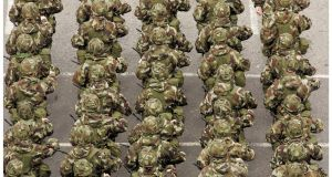 Defence Forces members. File photo. Photograph: Alan Betson