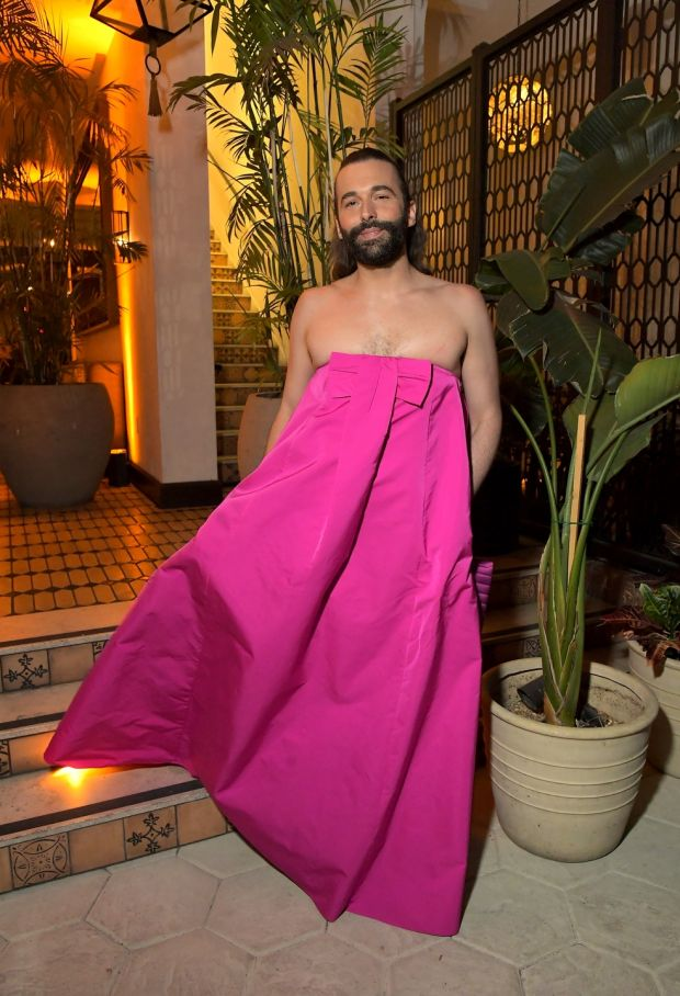 Jonathan Van Ness: 'effervescent, gregarious majestic centre-part-blow-dry cotton-candy figure-skating queen'. Photograph: Charley Gallay/Getty
