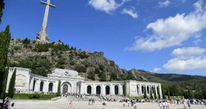 The basilica at the Valley of the Fallen in San Lorenzo del Escorial near Madrid, where Francisco Franco is buried.  Photograph: Javier Soriano/AFP/Getty Images