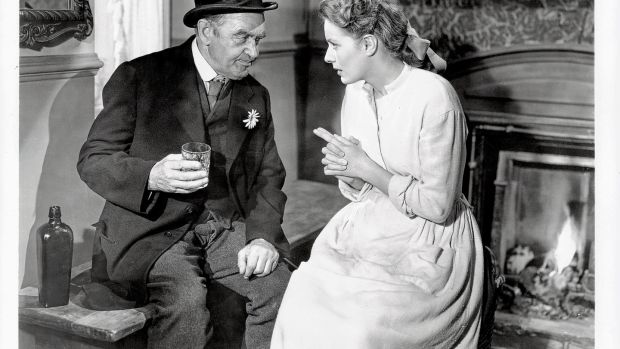 Barry Fitzgerald speaks to Maureen O'Hara in a scene from the film 'The Quiet Man' in 1952. Photograph: Republic/Getty Images