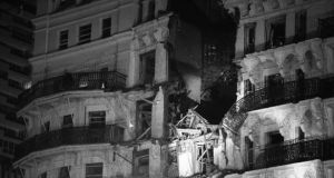 The Grand Hotel in Brighton after the IRA bombing in 1984. Photograph: PA
