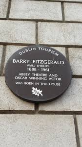 Barry Fitzgerald plaque, Portobello in Dublin.